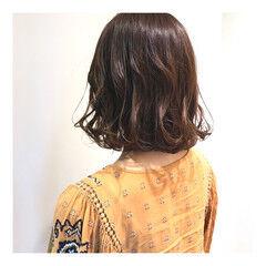春 ミディアム モテ髪 モテ髮シルエット ヘアスタイルや髪型の写真・画像