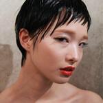 黒髪 ショート モード ウェットヘア