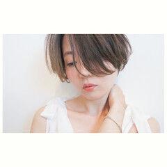 パーマ ニュアンス ショート 甘辛MIX ヘアスタイルや髪型の写真・画像