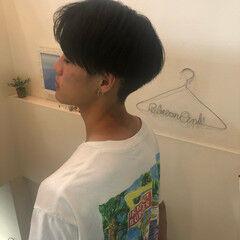 マッシュショート モード メンズカット ツーブロック ヘアスタイルや髪型の写真・画像