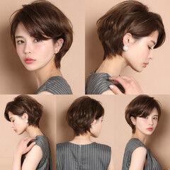 ショートボブ ショートヘア 40代 30代 ヘアスタイルや髪型の写真・画像