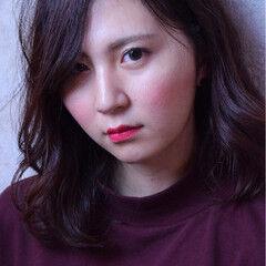 グラデーションカラー エレガント セミロング 上品 ヘアスタイルや髪型の写真・画像