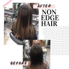 セミロング グラデーション スタイルチェンジ エクステ ヘアスタイルや髪型の写真・画像