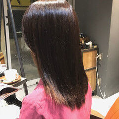 oggiotto ストレート ミディアム ナチュラル ヘアスタイルや髪型の写真・画像
