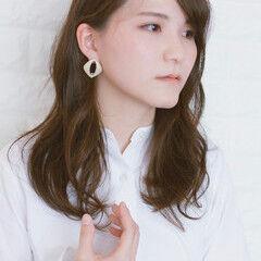 大人かわいい n. セミロング フェミニン ヘアスタイルや髪型の写真・画像