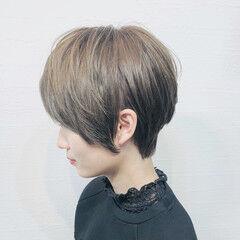 アッシュ 横顔美人 ハンサムショート ショートヘア ヘアスタイルや髪型の写真・画像