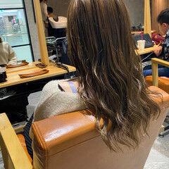 透明感カラー アイロンワーク イルミナカラー ツヤ髪 ヘアスタイルや髪型の写真・画像