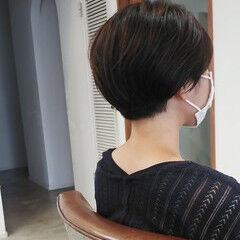 小顔ショート お洒落 ショートヘア ショート ヘアスタイルや髪型の写真・画像