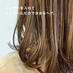 ワンカールスタイリング ワンカールパーマ 韓国ヘア ロング ヘアスタイルや髪型の写真・画像