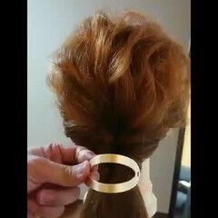 ミディアム 簡単ヘアアレンジ マジェステ ナチュラル ヘアスタイルや髪型の写真・画像