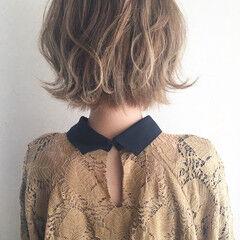 女子力 ボブ ウェーブ ヘアアレンジ ヘアスタイルや髪型の写真・画像