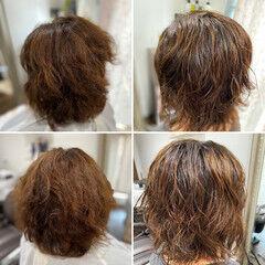 ボブ ウルフ女子 ソバージュ ウルフパーマヘア ヘアスタイルや髪型の写真・画像