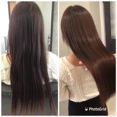 髪質改善 髪質改善トリートメント 髪質改善カラー ロング ヘアスタイルや髪型の写真・画像