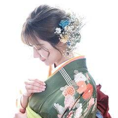 ミディアム 編み込みヘア ヘアアレンジ ナチュラル ヘアスタイルや髪型の写真・画像