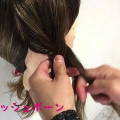 フェミニン ヘアアレンジ ロング フィッシュボーン ヘアスタイルや髪型の写真・画像