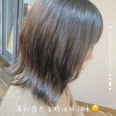 ナチュラル 暗色カラー 透明感 透明感カラー ヘアスタイルや髪型の写真・画像