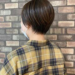 イルミナカラー ショート 大人ショート ショートヘア ヘアスタイルや髪型の写真・画像