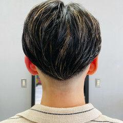 スキンフェード メッシュ パーマ ブリーチカラー ヘアスタイルや髪型の写真・画像