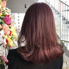 ピンクパープル ピンク フェミニン 韓国風ヘアー ヘアスタイルや髪型の写真・画像