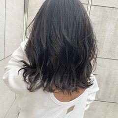 大人ハイライト ブリーチ必須 大人ミディアム 大人かわいい ヘアスタイルや髪型の写真・画像
