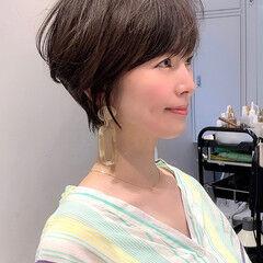 ショートヘア 40代 ショート 吉瀬美智子 ヘアスタイルや髪型の写真・画像