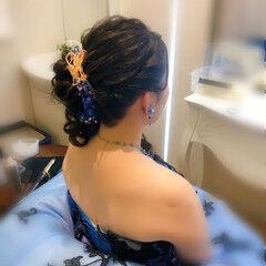 フェミニン アップ ヘアアレンジ 結婚式 ヘアスタイルや髪型の写真・画像