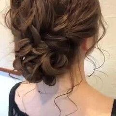 ゆるふわセット 結婚式ヘアアレンジ ガーリー ヘアアレンジ ヘアスタイルや髪型の写真・画像