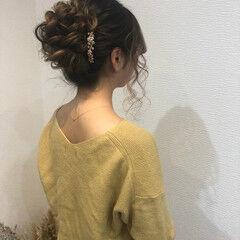 ロング アップスタイル ヘアアレンジ フェミニン ヘアスタイルや髪型の写真・画像