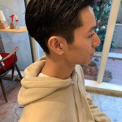 メンズカット ツーブロック 刈り上げ ナチュラル ヘアスタイルや髪型の写真・画像