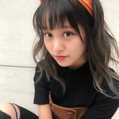 デート ヘアアレンジ 女子力 ナチュラル ヘアスタイルや髪型の写真・画像