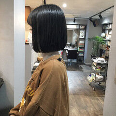 ショートヘア ボブ ミニボブ 切りっぱなしボブ ヘアスタイルや髪型の写真・画像