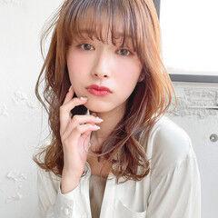 透明感カラー エレガント ゆるふわパーマ レイヤーカット ヘアスタイルや髪型の写真・画像