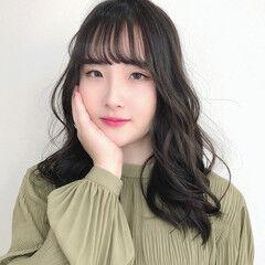 韓国ヘア トレンド レイヤースタイル エレガント ヘアスタイルや髪型の写真・画像