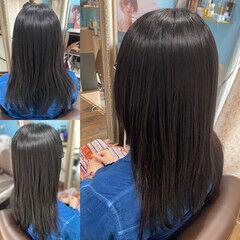 髪質改善カラー 脱縮毛矯正 縮毛矯正 ロング ヘアスタイルや髪型の写真・画像
