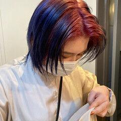 ハイトーンカラー モード ショート ハイトーン ヘアスタイルや髪型の写真・画像