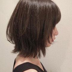 エレガント ダークアッシュ ウルフカット アッシュブラウン ヘアスタイルや髪型の写真・画像