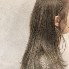透明感 ベージュ ミルクティーベージュ 冬 ヘアスタイルや髪型の写真・画像
