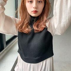 アンニュイほつれヘア ミディアム ウルフカット ミディアムレイヤー ヘアスタイルや髪型の写真・画像