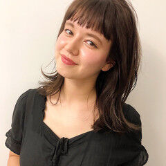 ミディアムヘアー 大人ミディアム スモーキーカラー 透明感カラー ヘアスタイルや髪型の写真・画像