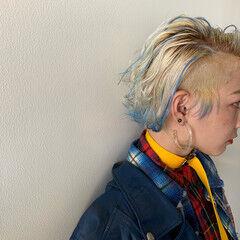 3Dハイライト ストリート ハイライト 刈り上げ女子 ヘアスタイルや髪型の写真・画像