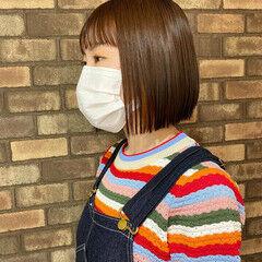 艶髪 ナチュラル イルミナカラー ショートボブ ヘアスタイルや髪型の写真・画像