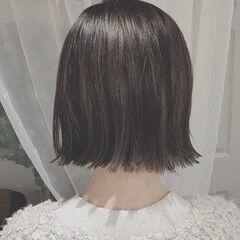 冬 デート ボブ フェミニン ヘアスタイルや髪型の写真・画像