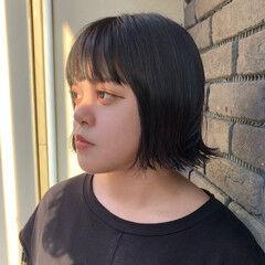 切りっぱなしボブ ボブヘアー 外ハネボブ ミニボブ ヘアスタイルや髪型の写真・画像