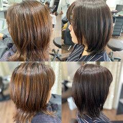 チョコレート デジタルパーマ 髪質改善トリートメント ガーリー ヘアスタイルや髪型の写真・画像
