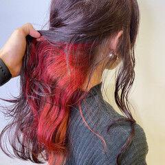 甘辛MIX ピンクバイオレット ベリーピンク フェミニン ヘアスタイルや髪型の写真・画像