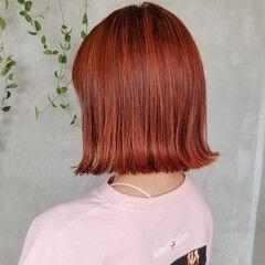 韓国 ボブ ハイライト ストリート ヘアスタイルや髪型の写真・画像