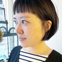 オン眉 ショートボブ ストリート ミニボブ ヘアスタイルや髪型の写真・画像