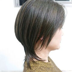 美シルエット ストリート ウルフカット ショート ヘアスタイルや髪型の写真・画像