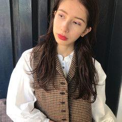 バレンタイン 上品 エレガント ロング ヘアスタイルや髪型の写真・画像