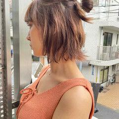 ヘアアレンジ ナチュラル ショートヘアアレンジ セルフヘアアレンジ ヘアスタイルや髪型の写真・画像